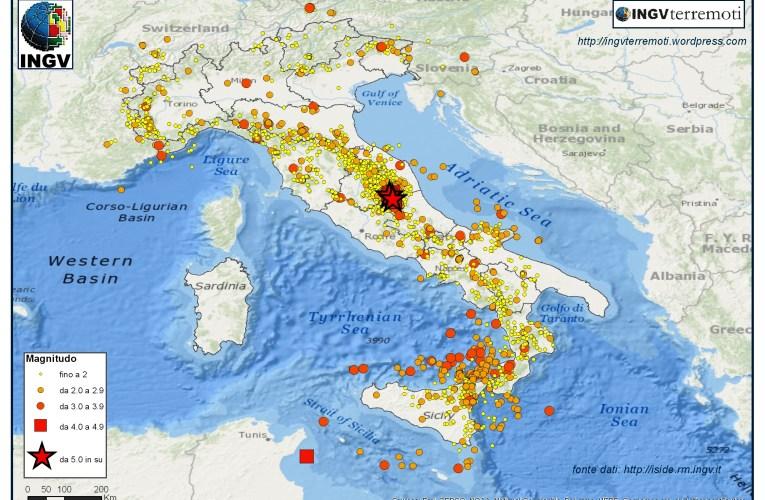 Italia sismica: i terremoti dell'estate 2016