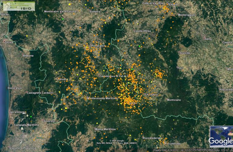 La sismicità dell'area geotermica di Larderello-Travale tra le province di Pisa, Siena e Grosseto