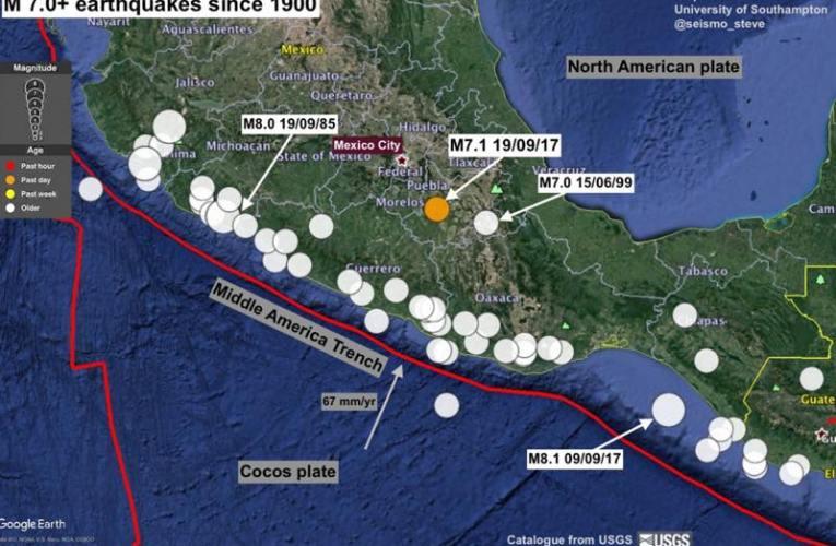 Terremoto M 7.1 in Messico del 19 settembre ore 20:14 italiane