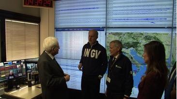 Il Presidente della Repubblica Sergio Mattarella in visita all'Istituto Nazionale di Geofisica e Vulcanologia
