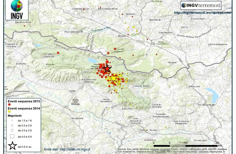 L'analisi della sequenza sismica del Sannio-Matese del 2013-2014 in un articolo su Science Advances