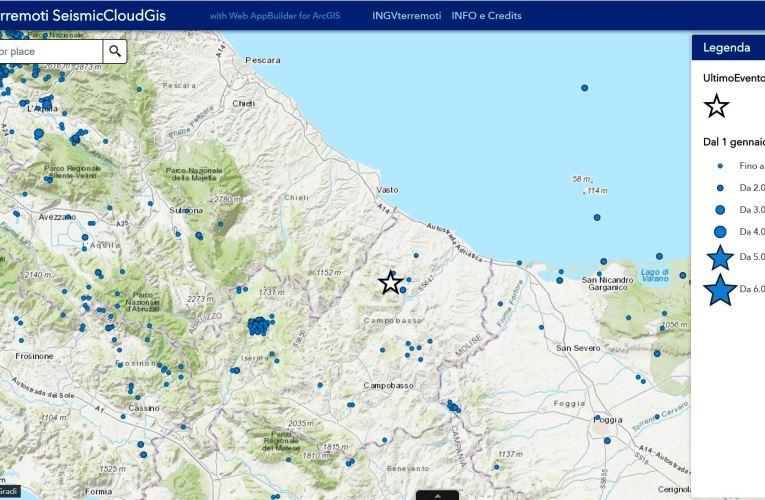 Evento sismico in provincia di Campobasso, Ml 4.2 (Mw4.3), 25 aprile 2018