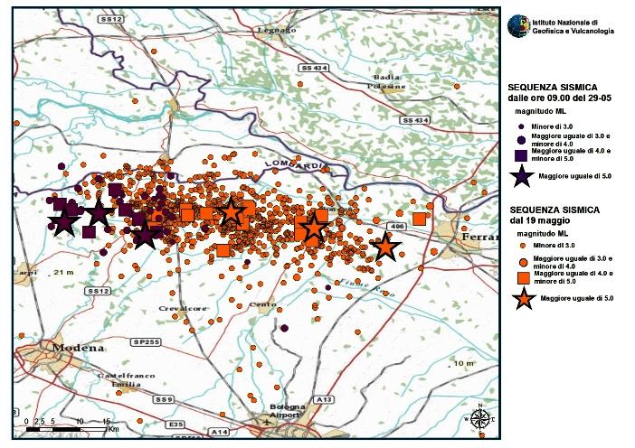 20 maggio 2019: sette anni dalla sequenza sismica in Pianura Padana Emiliana