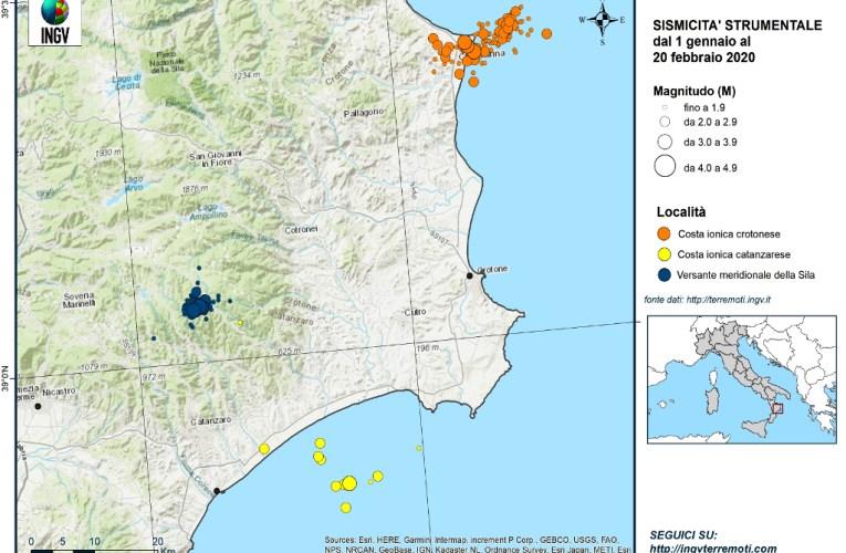 Sequenze sismiche in Calabria, gennaio – febbraio 2020