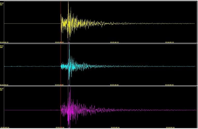 Terremoto in provincia di Roma, M 3.3, 11 maggio 2020