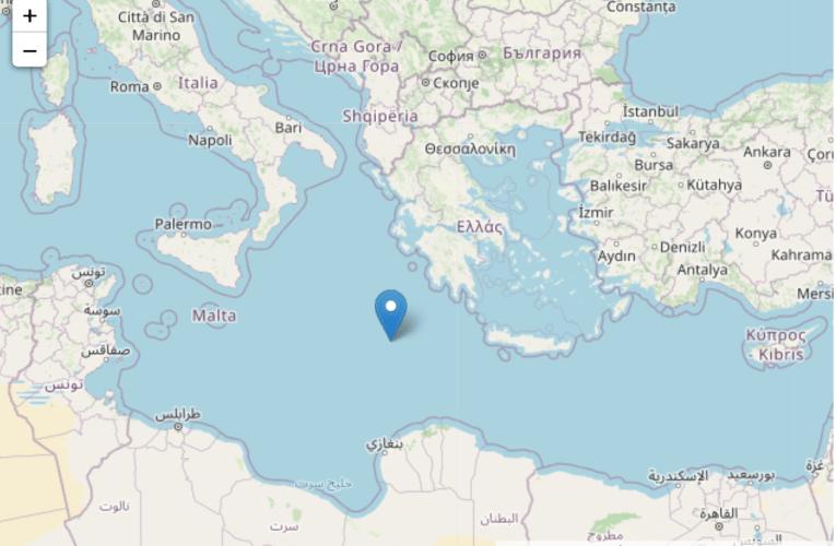 Terremoto nel Mar Ionio, magnitudo 5.5 – 21 maggio 2020 ore 01:43