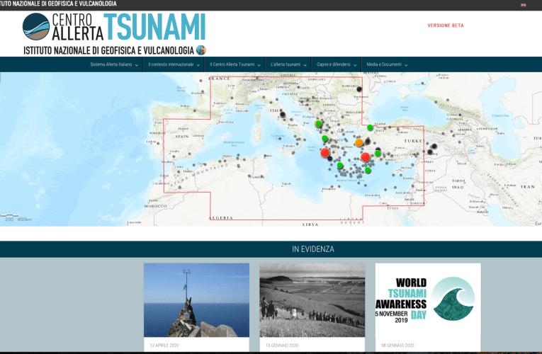 Online il sito web del Centro Allerta Tsunami dell'INGV (www.ingv.it/cat/)