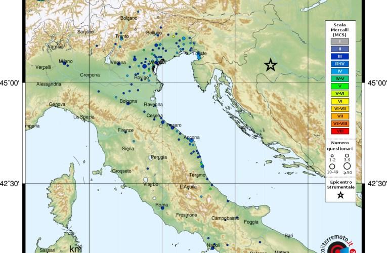 Terremoto Mw 6.4 in Croazia – 29 dicembre 2020 ore 12:19