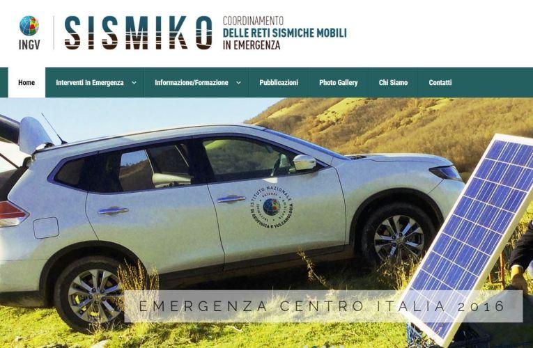 Il sito web del Gruppo Operativo di Emergenza SISMIKO