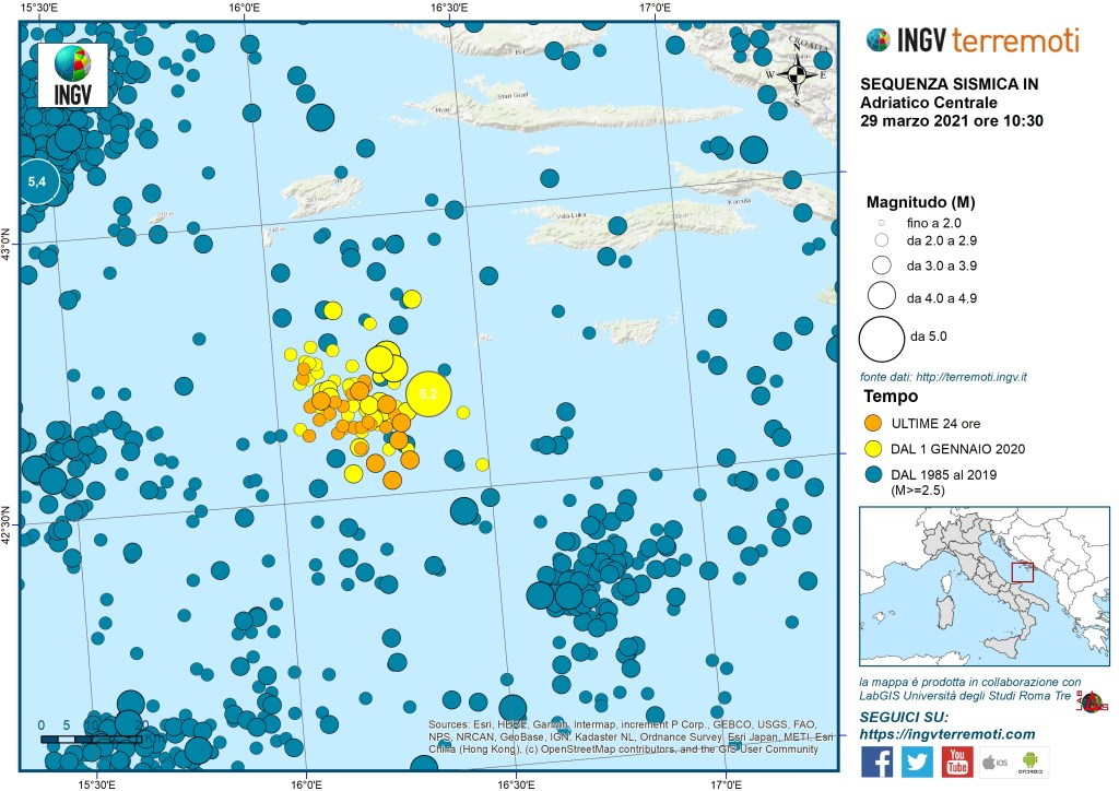 sequenza sismica adriatico
