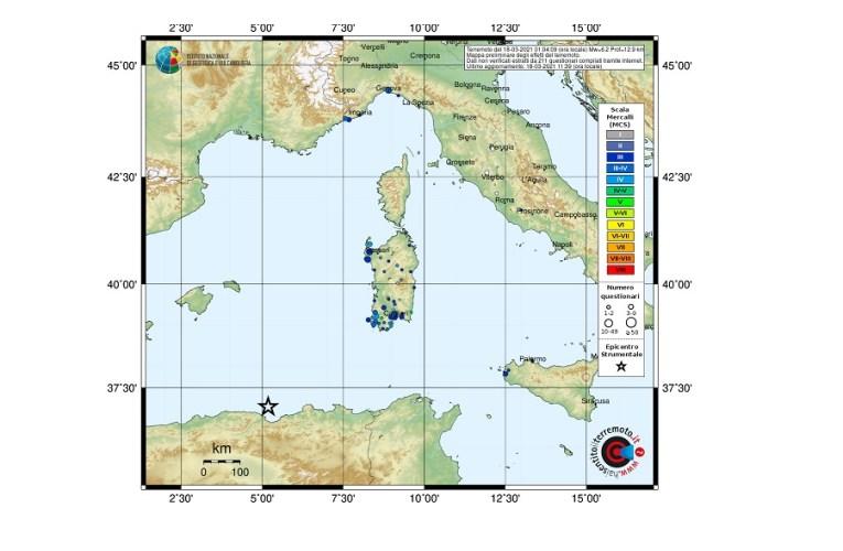 Il terremoto al largo della costa algerina (magnitudoMwp 6.2), 18 marzo 2021