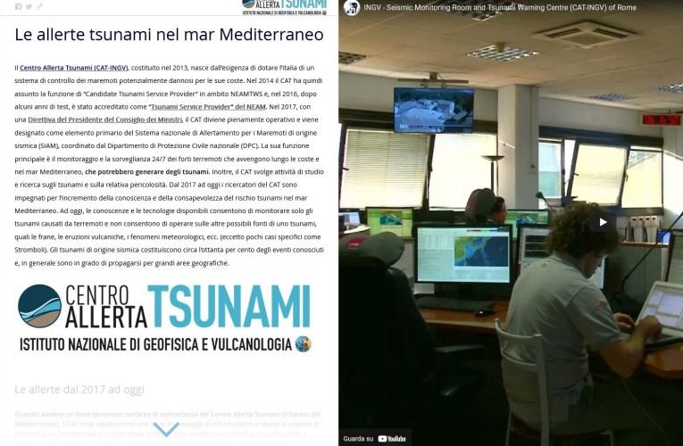 La story map delle allerte tsunami nel mar Mediterraneo