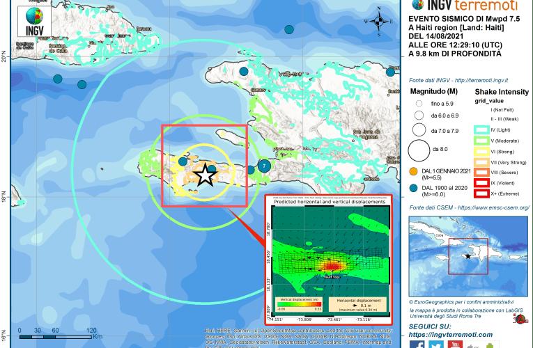 Terremoto Mw7.5 ad Haiti, 14 agosto 2021