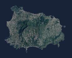 Ischia – Ortofoto dell'isola di Ischia.