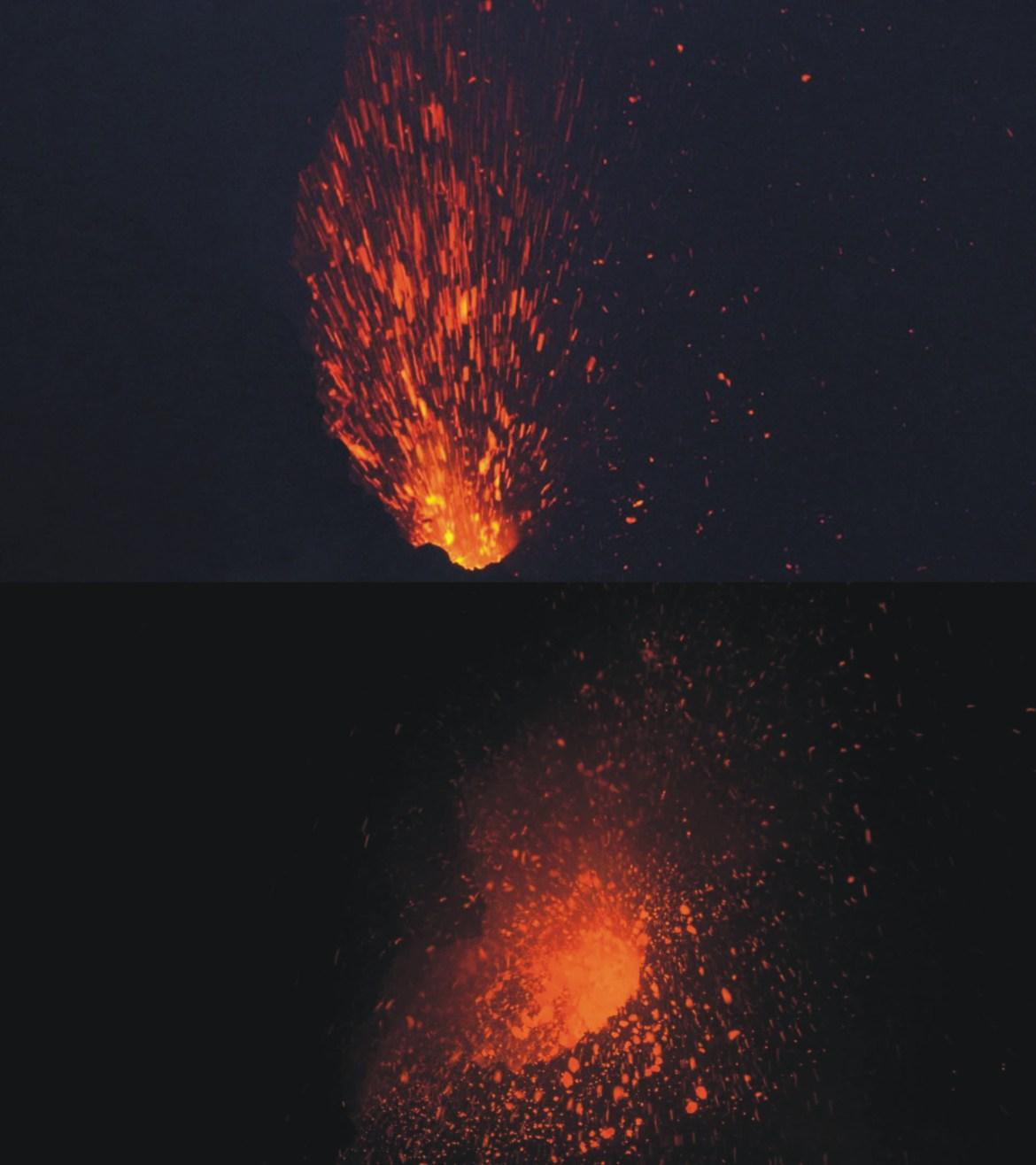Esplosioni stromboliane Cratere di NE Etna 20_21 luglio 2018 (foto di Michele Mammino)