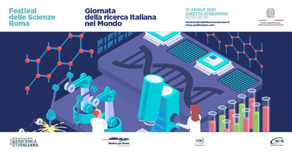 logo giornata ricerca italiana nel mondo 2021