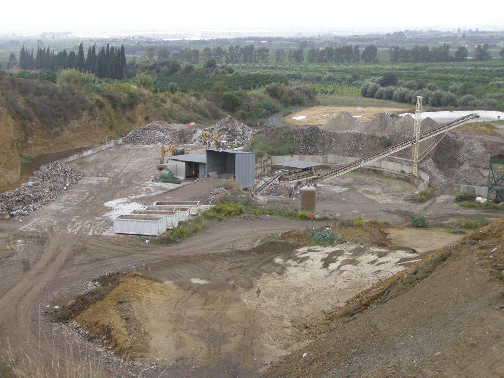 impianto di recupero della cenere vulcanica