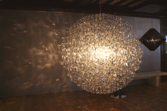 His Millenium Chandelier Shown Above Is Made From An Assortment Of Exploded Party Poppers And Debris Collected London S Millennial Celebrations