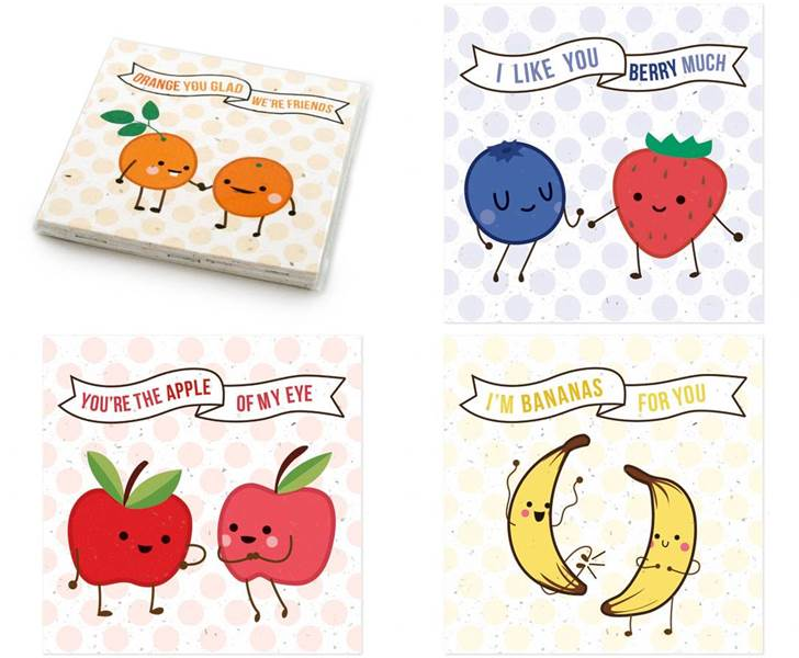Fruit Friends Valentines Day Cards Inhabitots