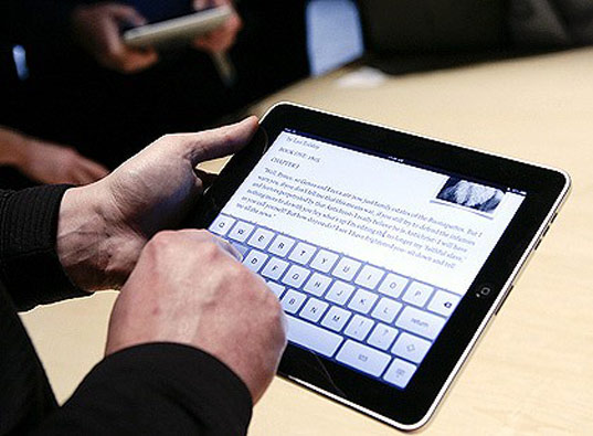 iPad in use