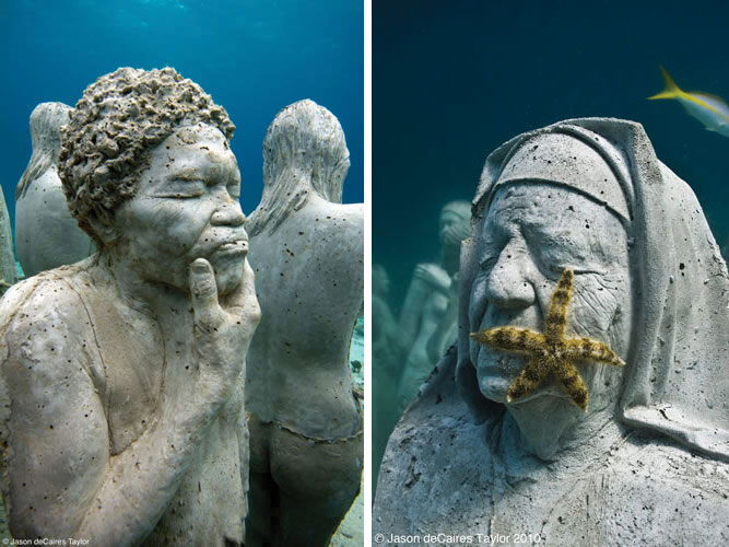 The Silent Evolution Statues