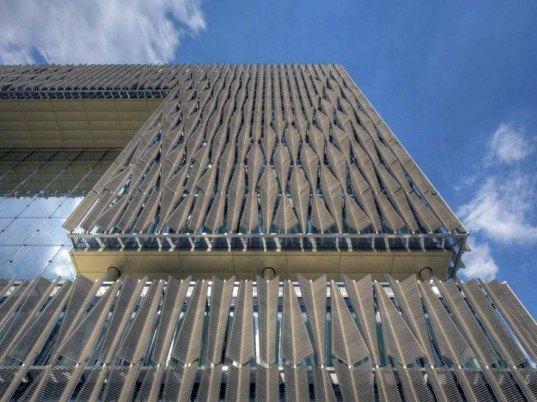 Eco Design, Sustainable design, JSWD Architekten, Q1, Thyssen Krupp Quarter, sun shading system, green architecture, energy efficiency in buildings
