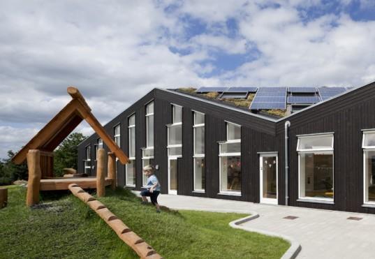 christensen and co, denmark, sunhouse, green design, eco design, sustainable design, green architecture, sustainable architecture, solar panels, sustainable nursery, nursery