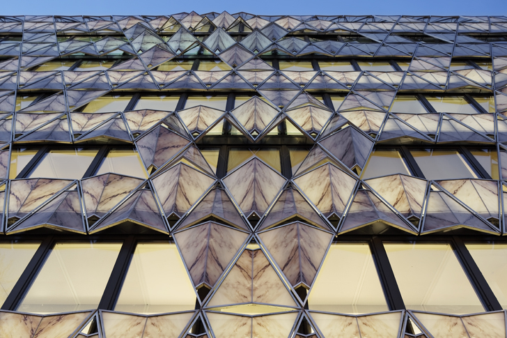 Glittering Origami Inspired High Rise Pops Up In Paris