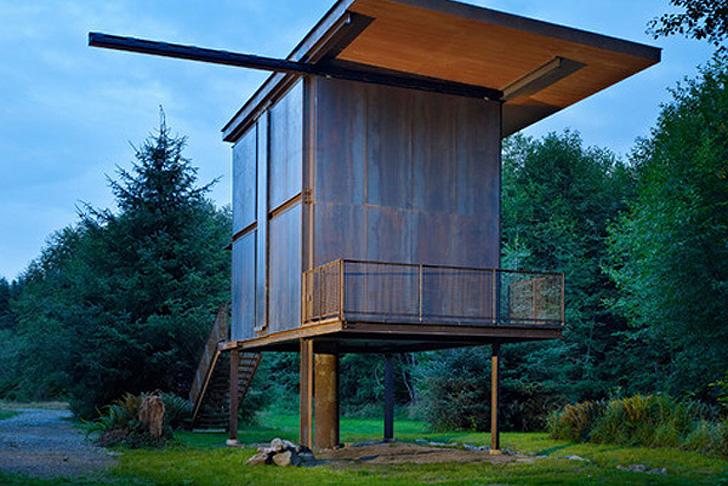 Olson Kundig Architects Prefab Sol Duc Cabin Rests