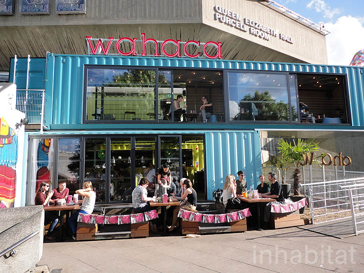 Londons Bold And Bright Wahaca Restaurant Is Built From 8 Shipping Containers Inhabitat