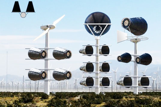 Catching Wind Power Farm, wind turbine, bladeless wind turbine, birds, conservation, design, renewable energy
