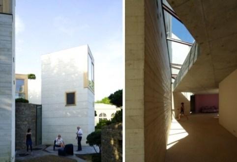 Green Roofed Maison L Renovation in France Scoops RIBA s 2012 Manser     France  RIBA  christian pottgiesser architecturespossibles  pottgiesser  architecturespossibles  green roof  tower home