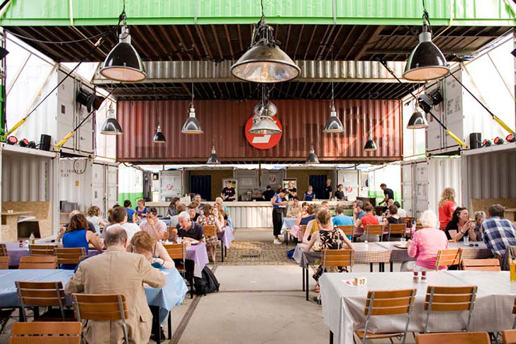 OAs Recycled Shipping Container Theater Pops Up In