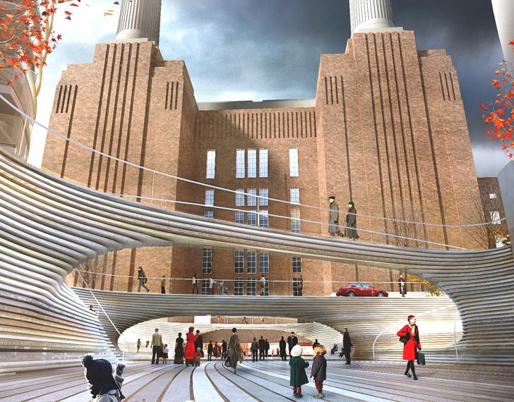 BIG Unveils Cascading Landscape Like Design For Battersea