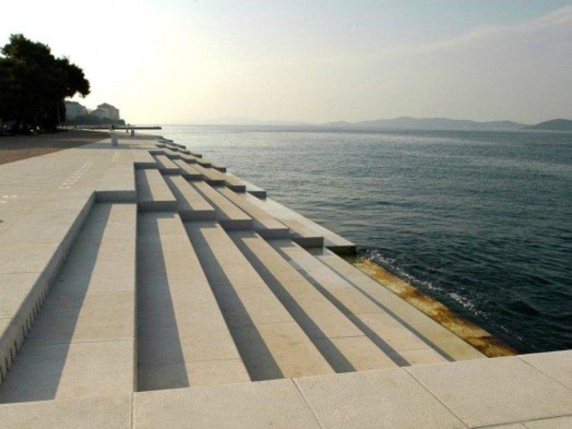 Morske Orgulje, Sea Organ, Zadar, croatian architect, music by the sea, sea-powered instrument, organ played by seawater, ocean organ, environmental music, acoustic structures, ocean music organ, ocean organ, music in architecture, architectural music
