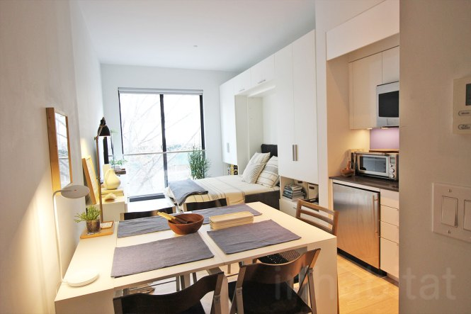 Nyc S First Micro Apartment Units Near Completion At Carmel