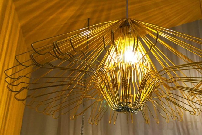 Coat Hanger Lamp Hang Hanging Clothes Recycled