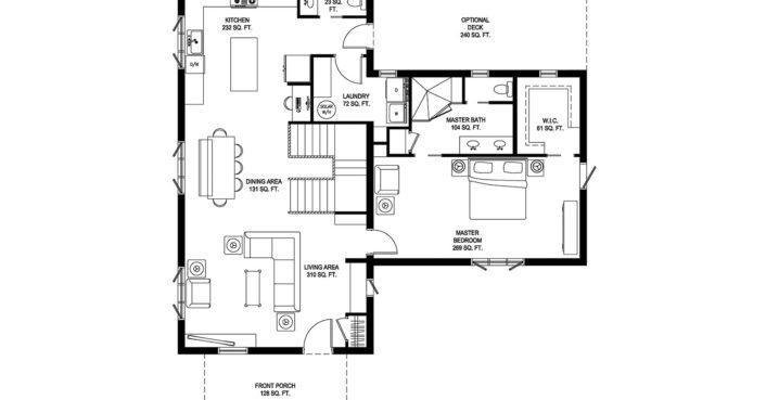 Deltec Solar Farmhouse Main Floorplan Inhabitat Green Design Innovation Architecture