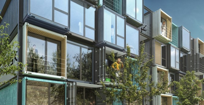 Arkitema Architects Beat Box Apartments Shipping Container In Denmark