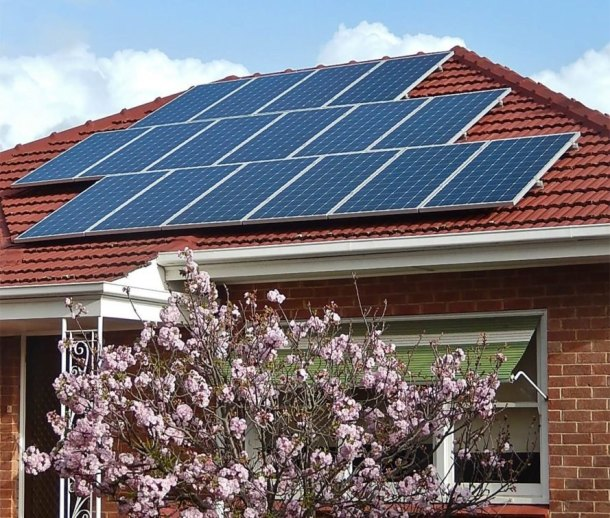 Australia, rooftop solar, solar panels, blossoms, South Australia, home