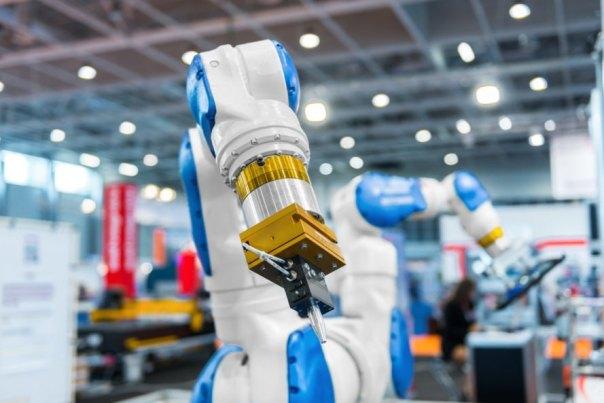A robotic arm.