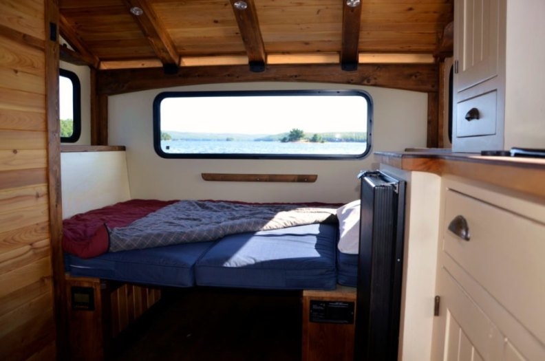 sleeping space inside boat