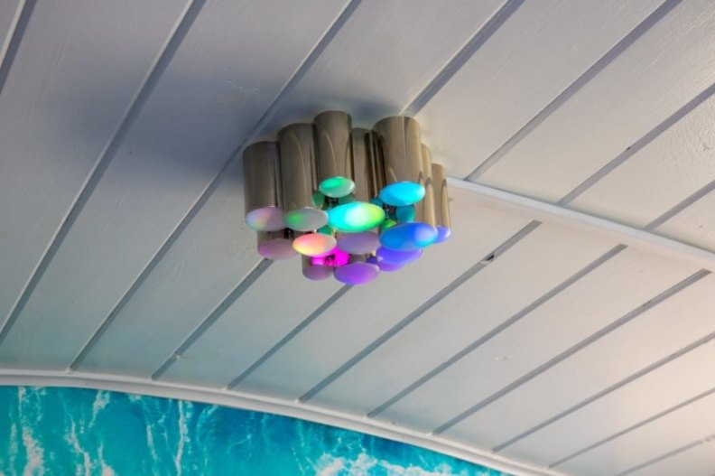 multicolored ceiling lights
