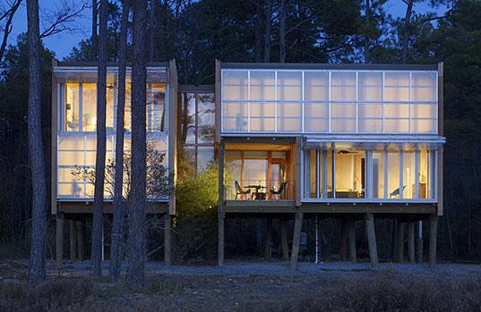 Loblolly House, Kieran Timberlake Associates, Inhabitat Prefab Friday, Chesapeake Bay, Maryland, component-based prefab, photo © Barry Halkin