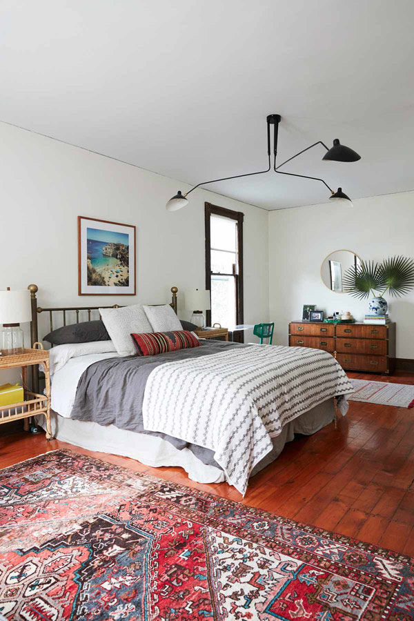 Jess Davis, owner of Nest Studio, the master bedroom in her South Orange NJ Victorian