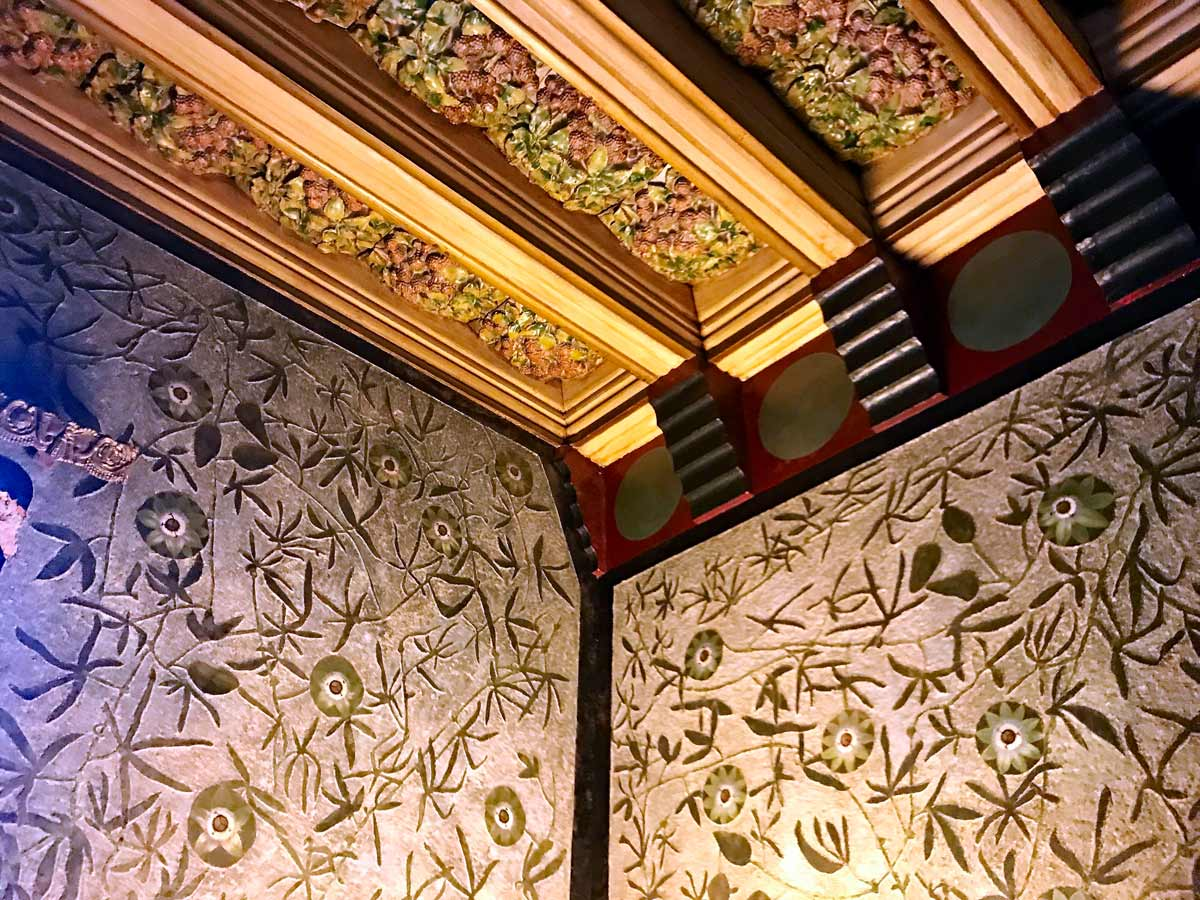 Paper Mache ceiling in Gaudi's Vicen's Home in Barcelona, Spain.