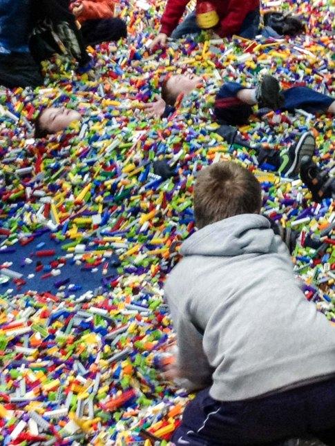 Brick pile LEGO Kidsfest Hartford ~ photo by Edward Main