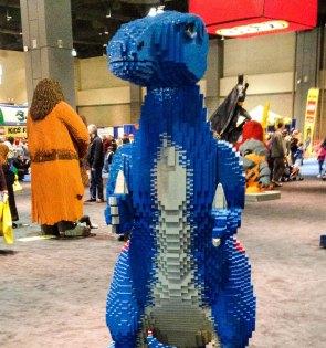 Blue dino LEGO Kidsfest Hartford ~ photo by Edward Main