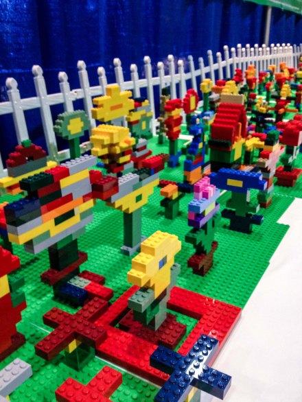 Flower garden LEGO Kidsfest Hartford ~ photo by Edward Main