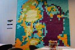 #MarkTwain Post-It Mural #artroom @letsgoarts